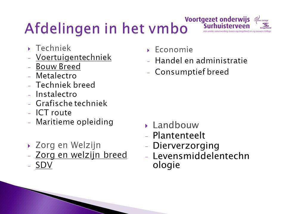 Techniek - Voertuigentechniek - Bouw Breed - Metalectro - Techniek breed - Instalectro - Grafische techniek - ICT route - Maritieme opleiding  Econ