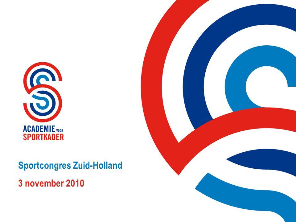 Sportcongres Zuid-Holland 3 november 20101 Sportcongres Zuid-Holland 3 november 2010