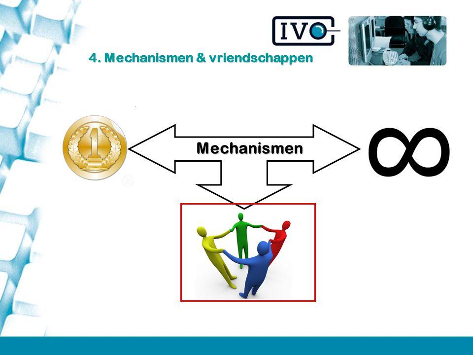Mechanismen 4. Mechanismen & vriendschappen