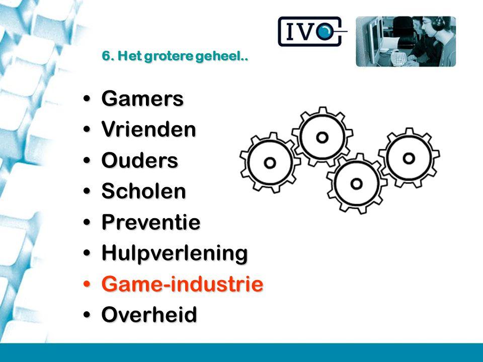 GamersGamers VriendenVrienden OudersOuders ScholenScholen PreventiePreventie HulpverleningHulpverlening Game-industrieGame-industrie OverheidOverheid