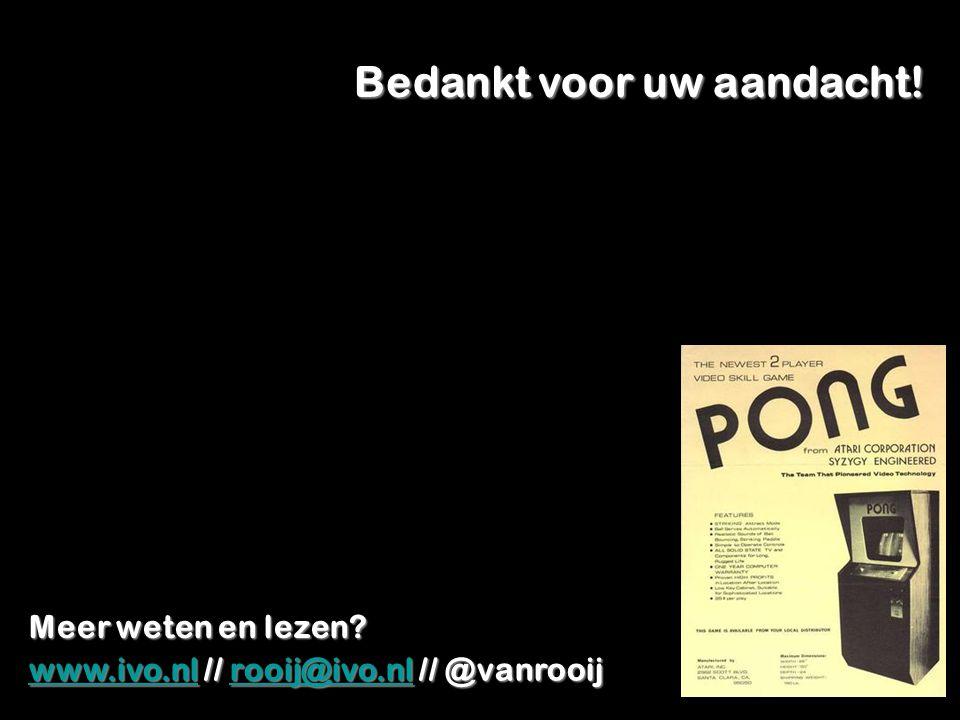 Bedankt voor uw aandacht! www.ivo.nlwww.ivo.nl // rooij@ivo.nl // @vanrooij rooij@ivo.nl www.ivo.nlrooij@ivo.nl Meer weten en lezen?