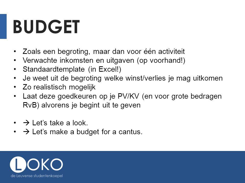 SUBSIDIES Bij LOKO (kringen en erkende VV) https://loko.be/backstage/?id=233 Bij de provincie Vlaams-Brabant Meestal projectsubsidies (vb.