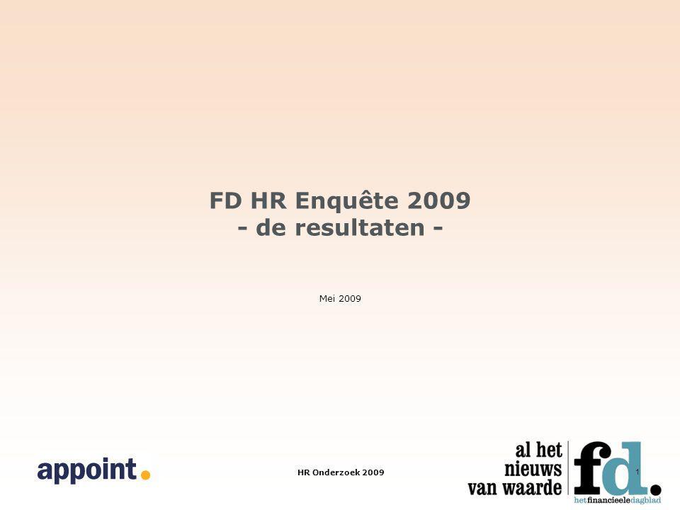 HR Onderzoek 2009 1 FD HR Enquête 2009 - de resultaten - Mei 2009