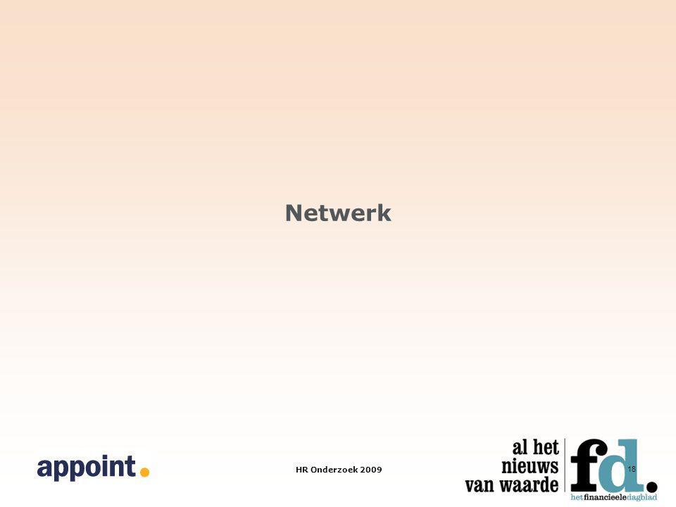 HR Onderzoek 2009 18 Netwerk