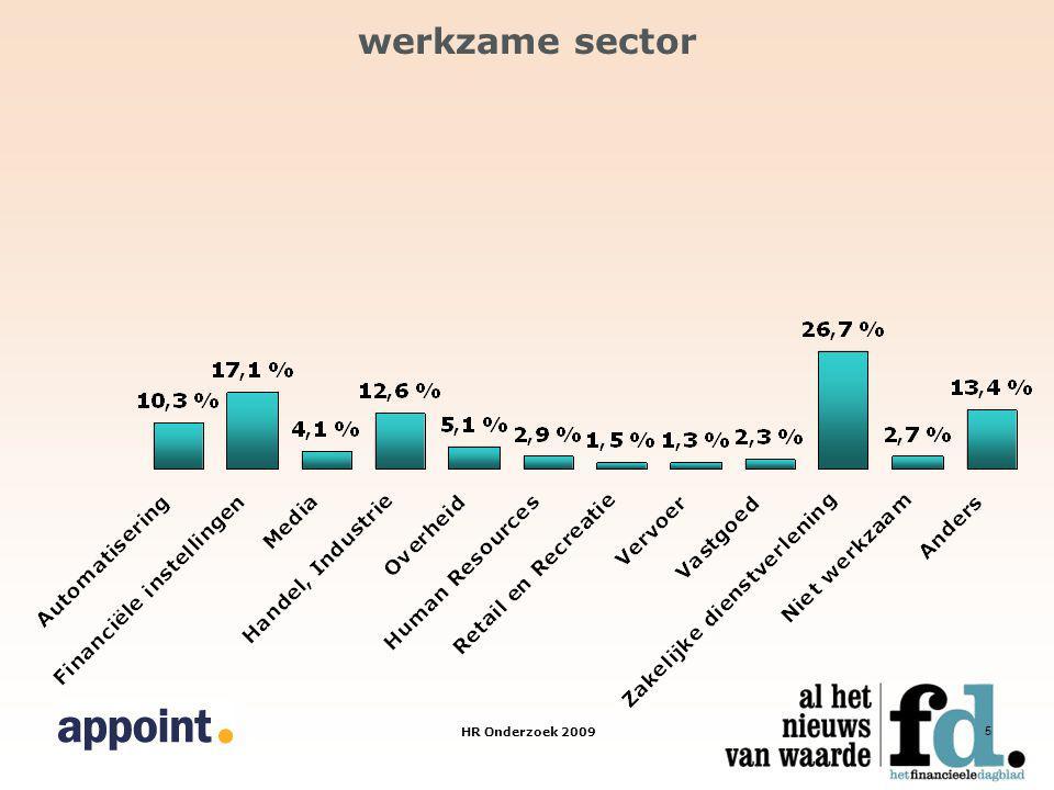 HR Onderzoek 2009 5 werkzame sector