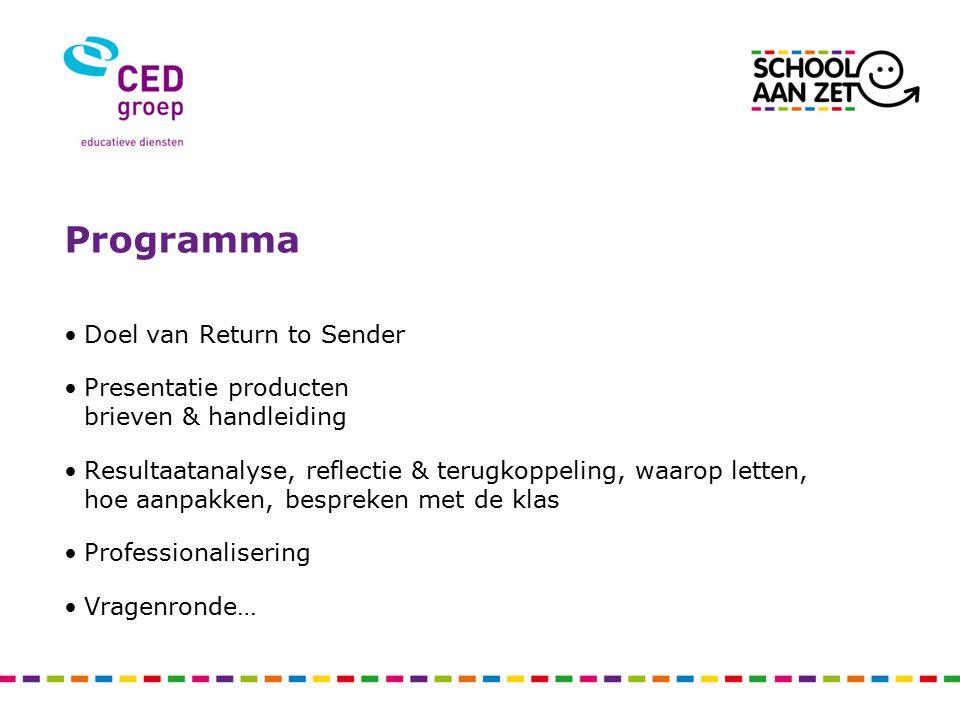 Doel van Return to Sender Een methode waarmee leerlingen feedback over de les geven aan hun leerkracht.
