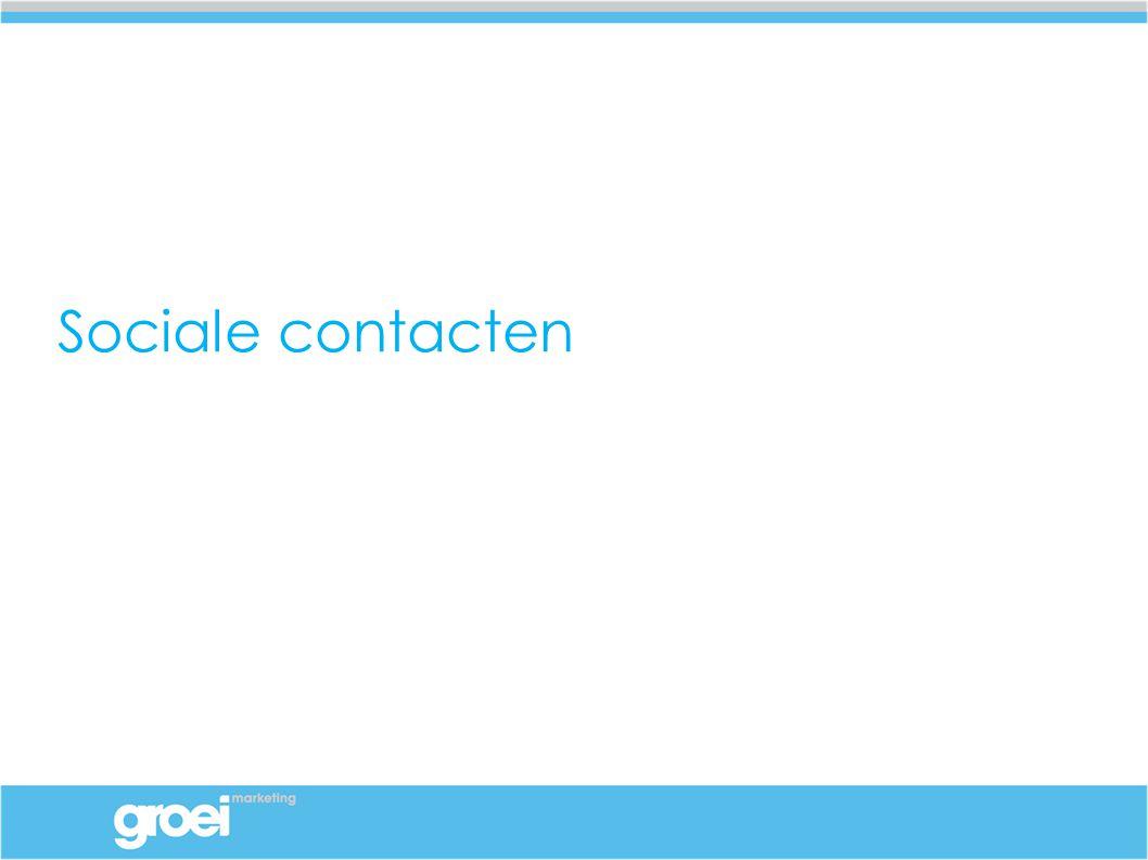 Voldoende sociale contacten?