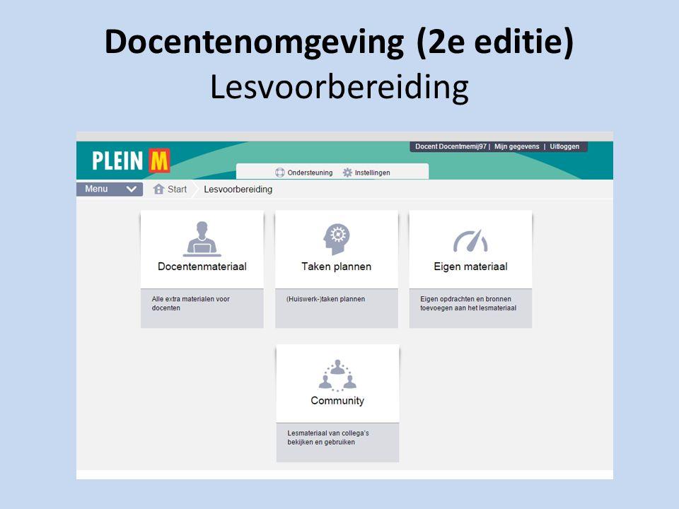 Docentenomgeving (2e editie) Lesvoorbereiding