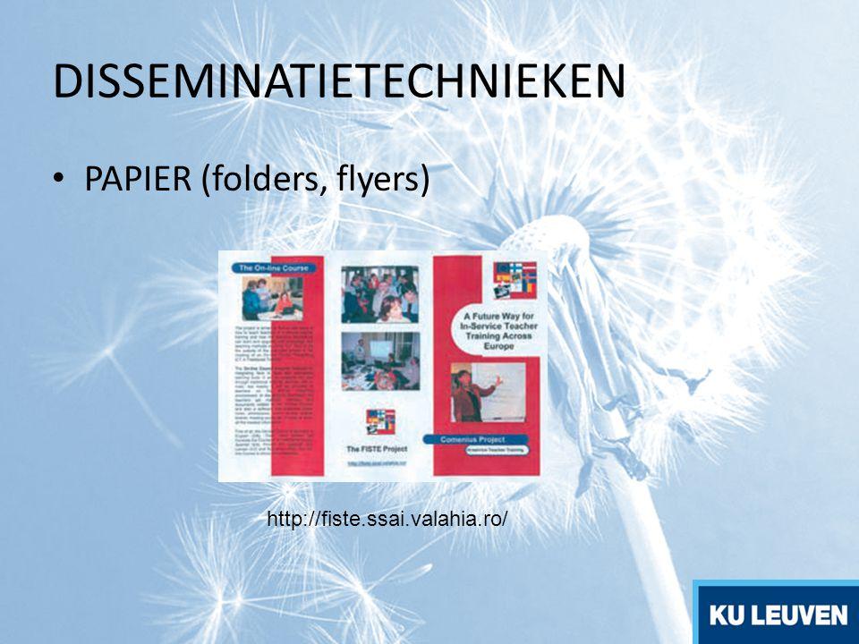 PAPIER (folders, flyers) http://fiste.ssai.valahia.ro/