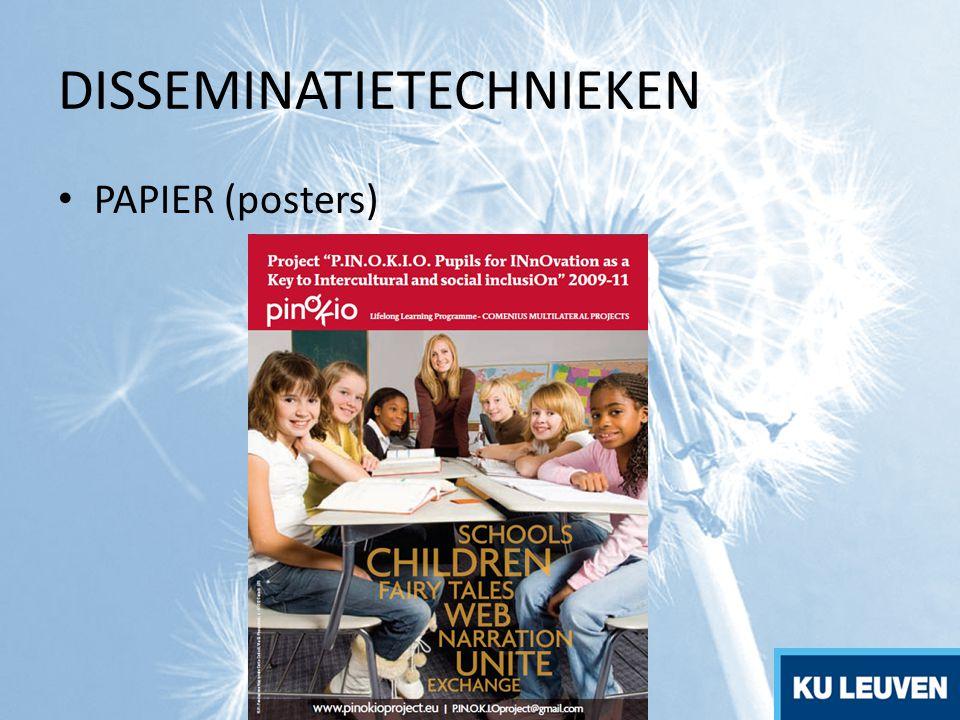 DISSEMINATIETECHNIEKEN PAPIER (posters)