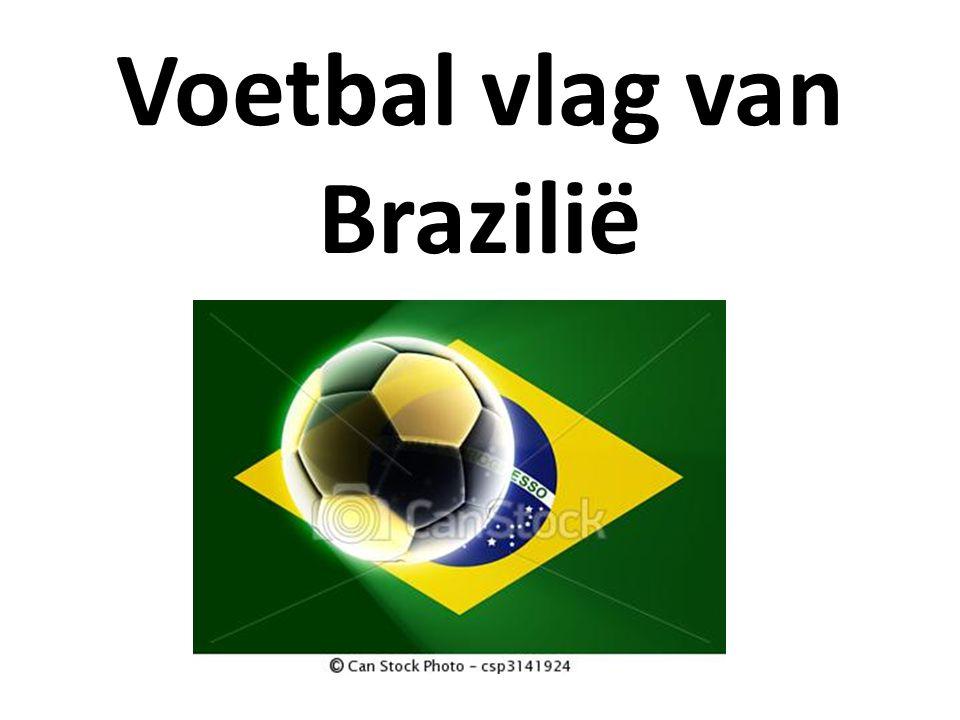 Voetbal vlag van Brazilië