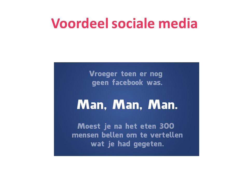 Voordeel sociale media