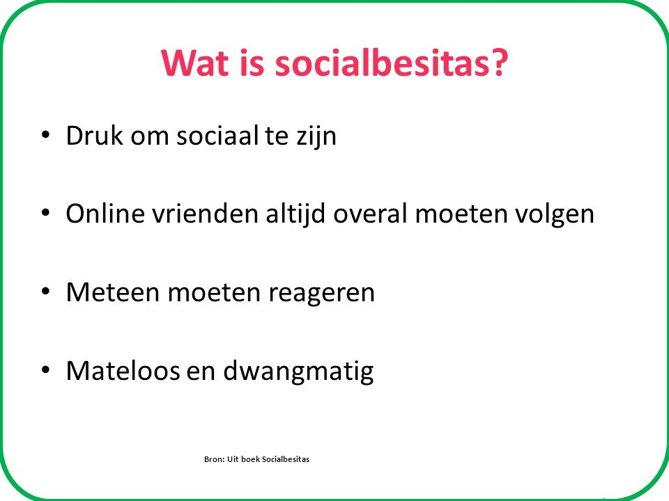 Wat is socialbesitas.