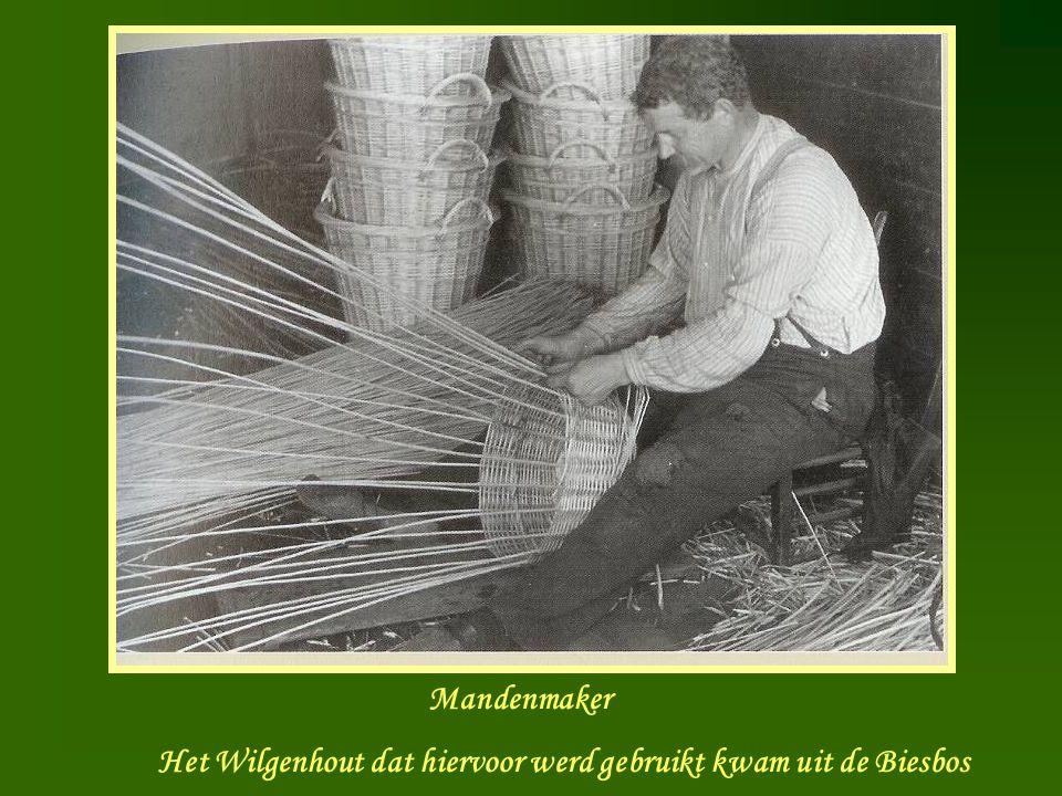 Mandenmaker Het Wilgenhout dat hiervoor werd gebruikt kwam uit de Biesbos