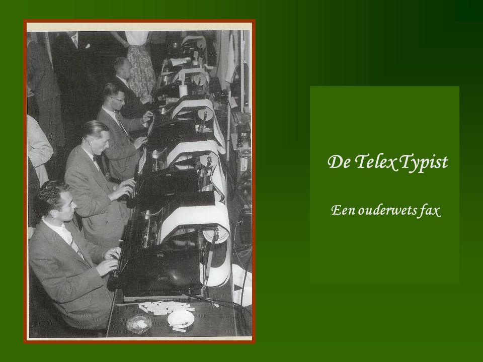 De Telex Typist Een ouderwets fax