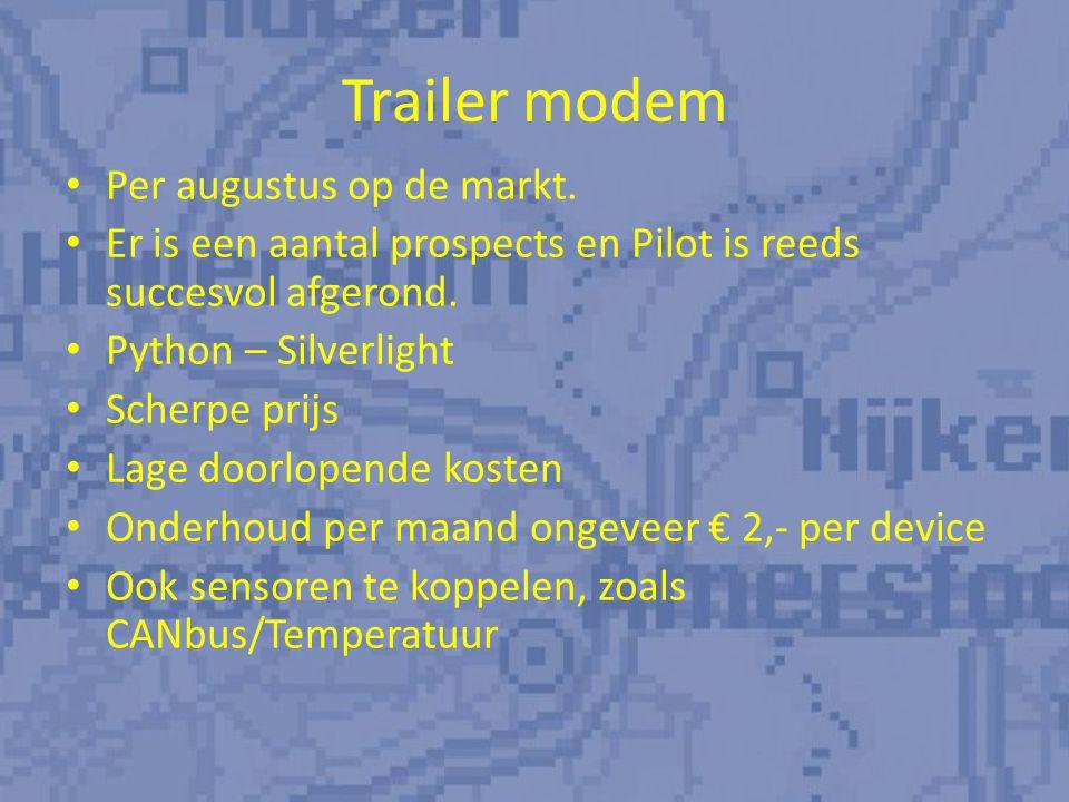 Trailer modem Per augustus op de markt.