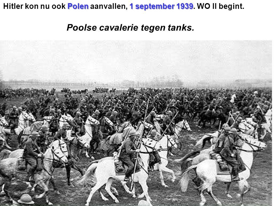 Poolse cavalerie tegen tanks.