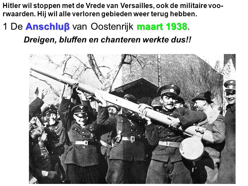 Anschluβ maart 1938 1 De Anschluβ van Oostenrijk maart 1938.