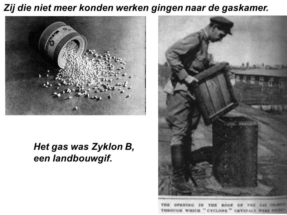 Het gas was Zyklon B, een landbouwgif.