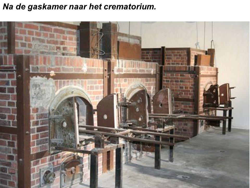 Na de gaskamer naar het crematorium.