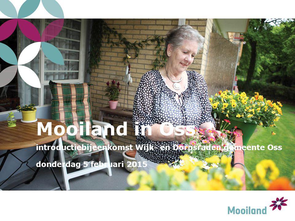 Mooiland in Oss introductiebijeenkomst Wijk- en Dorpsraden gemeente Oss donderdag 5 februari 2015