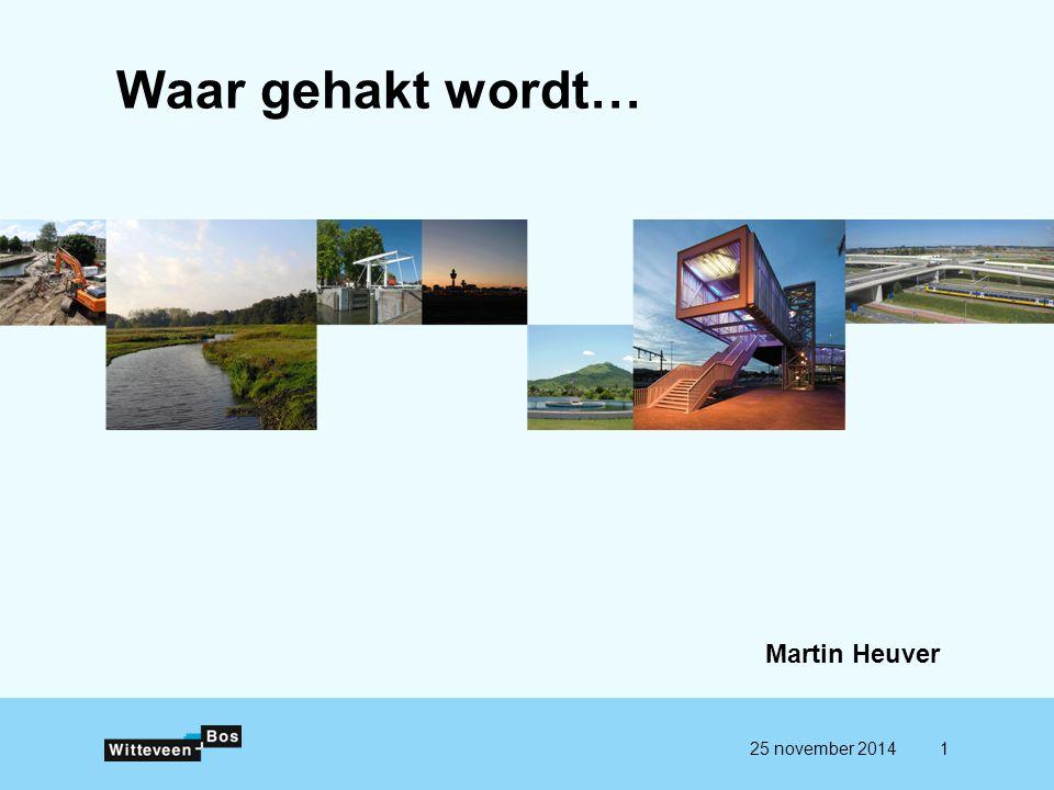 Waar gehakt wordt… Martin Heuver 25 november 20141