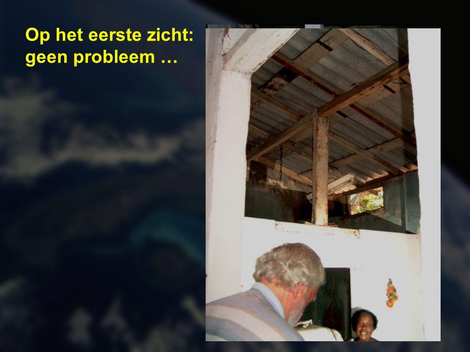 Vaak zijn er problemen met vocht in huis door de slechte toestand van het dak