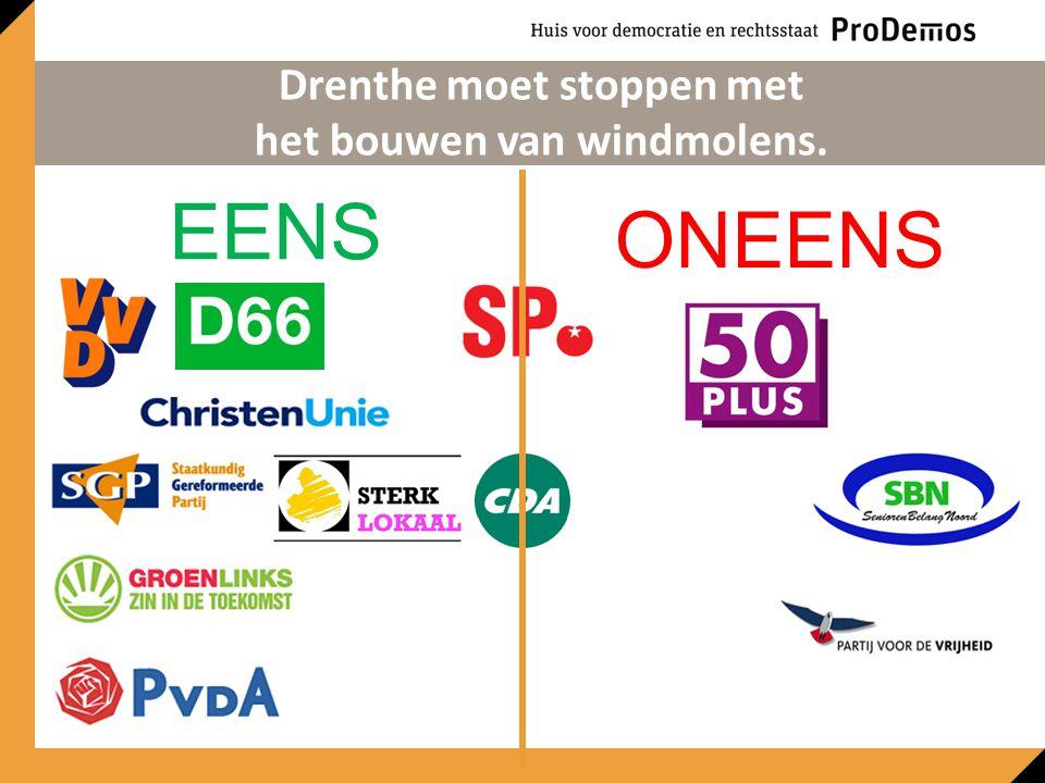 EENS ONEENS Drenthe moet stoppen met het bouwen van windmolens.