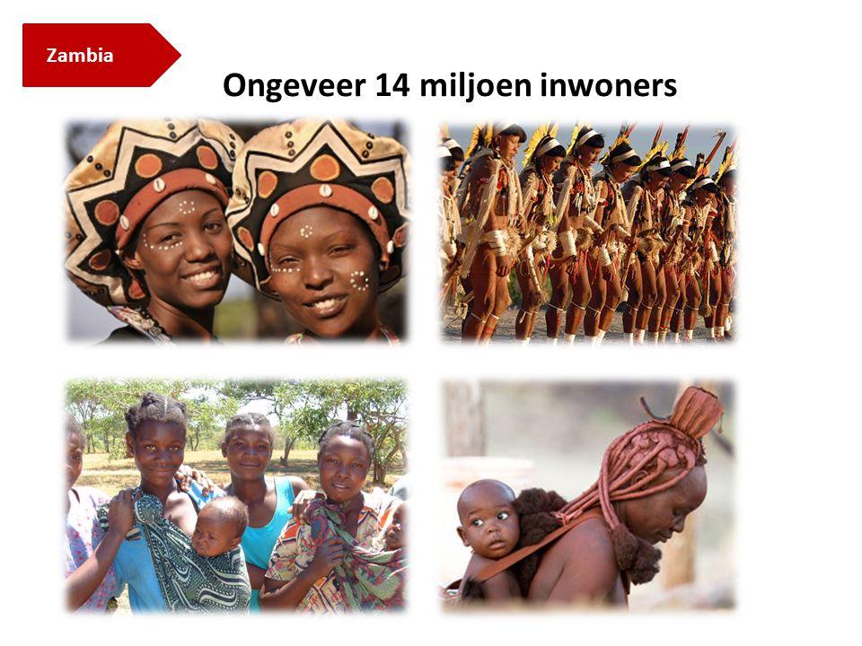 Zambia Ongeveer 14 miljoen inwoners