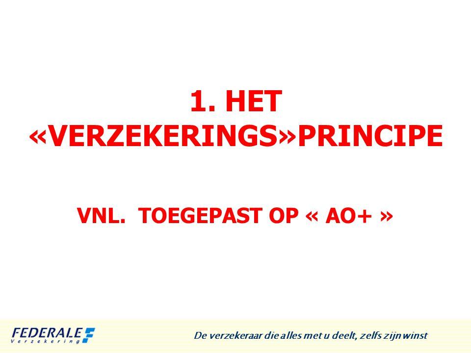 1.HET «VERZEKERINGS»PRINCIPE VNL.