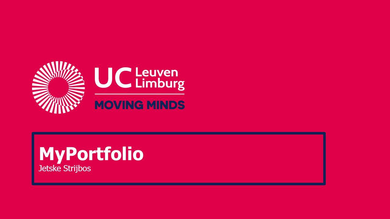 MyPortfolio 2010-2012 Partners: 1.KU Leuven (GEN) 2.UCLL (KHLeuven-G&T) 3.Odisee (HUBrussel-H&B) 4.Toledoteam (ICTS) Doel: Zelfsturing Zelfreflectie Interactieve coaching Competentiegestuurd Multi-actor Dynamiek Werklastvermindering Resultaat: ontwerp