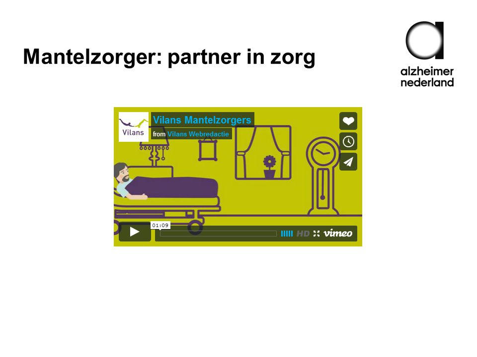 Mantelzorger: partner in zorg