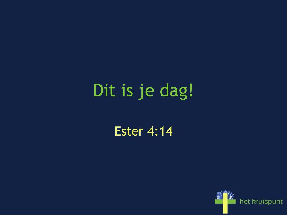 Dit is je dag! Ester 4:14