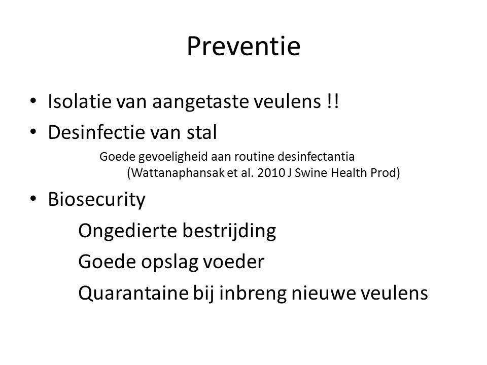 Preventie Isolatie van aangetaste veulens !.