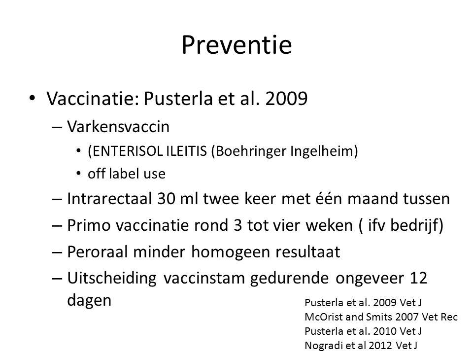 Preventie Vaccinatie: Pusterla et al.