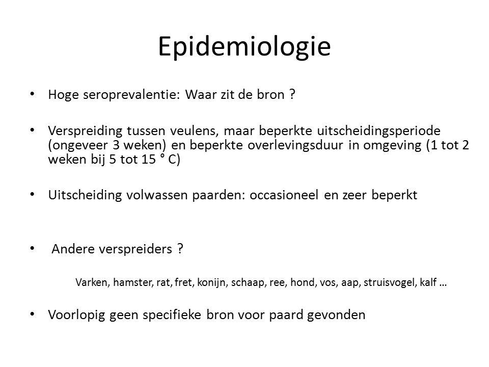 Epidemiologie Hoge seroprevalentie: Waar zit de bron .
