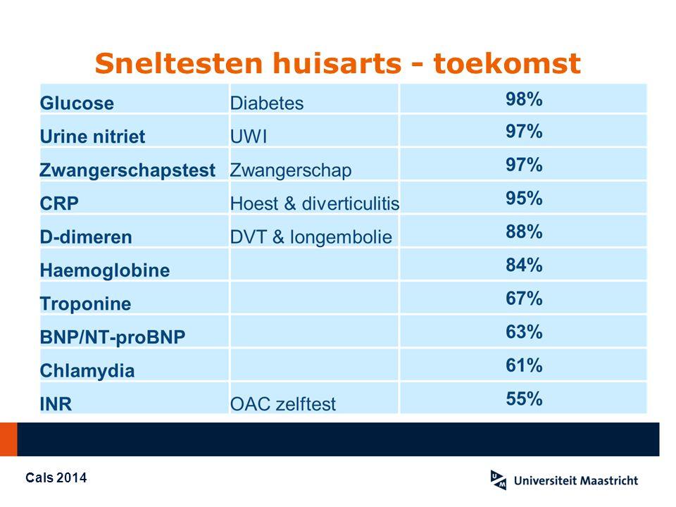 Beschikbare testen Nitriet, Hb D-dimeren / CRP / H-FABP / calprotectine INR Pro-BNP HbA1c / cholesterol Groep A streptokokken / legionella / RSV Chlamydia / HIV Malaria / Filariasis, G6PD Fecaal occult bloed En vele anderen