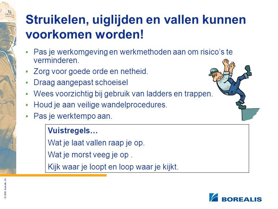 © 2010 Borealis AG Struikelen, uiglijden en vallen kunnen voorkomen worden.