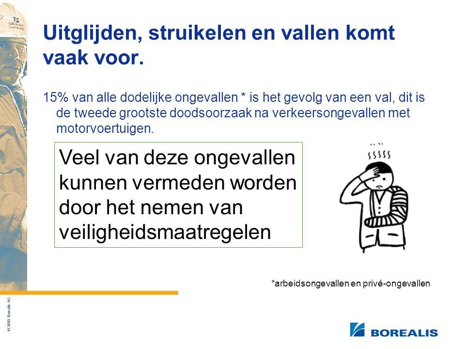 © 2010 Borealis AG Uitglijden, struikelen en vallen komt vaak voor.