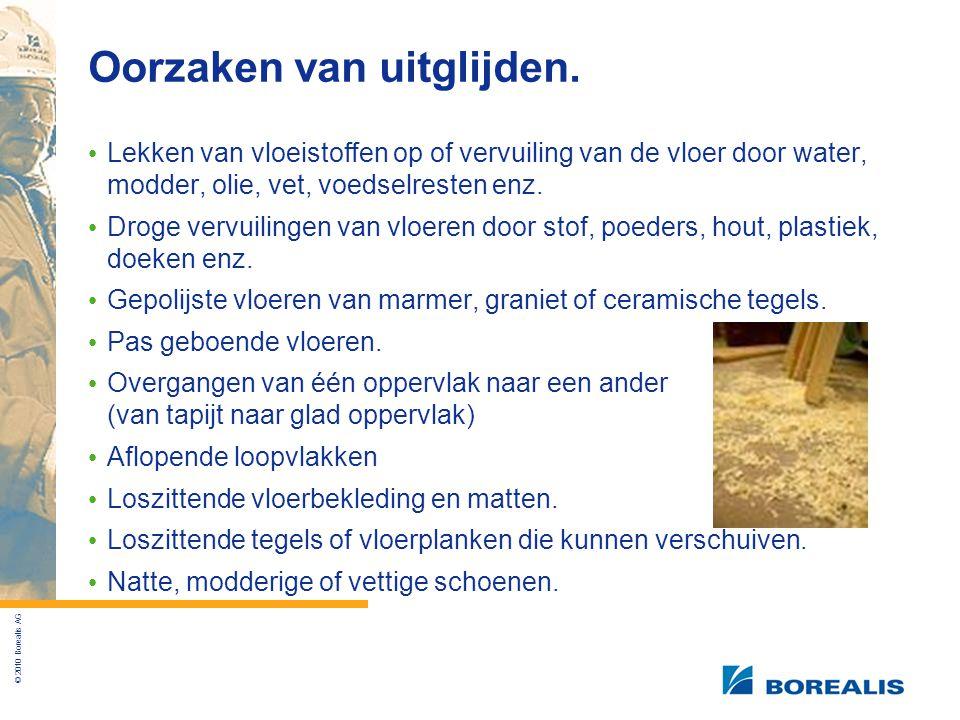 © 2010 Borealis AG Oorzaken van uitglijden.
