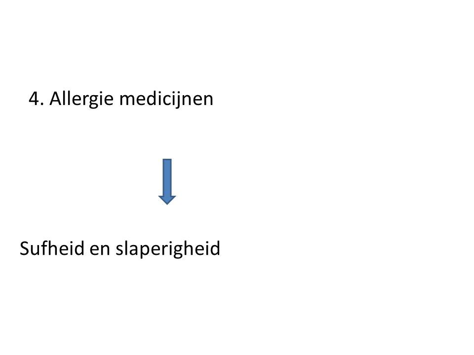 Sufheid en slaperigheid 4. Allergie medicijnen