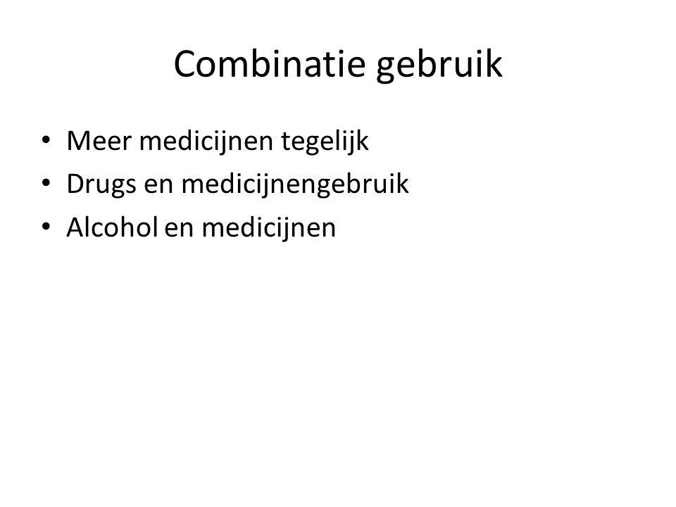Combinatie gebruik Meer medicijnen tegelijk Drugs en medicijnengebruik Alcohol en medicijnen