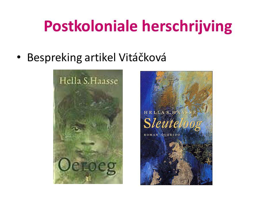Postkoloniale herschrijving Bespreking artikel Vitáčková
