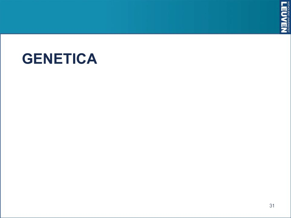 GENETICA 31