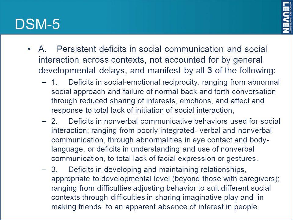 DSM 5 B.