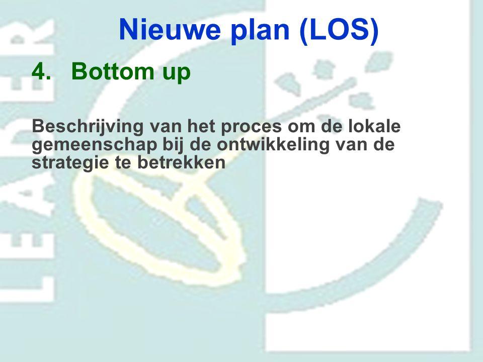 Nieuwe plan (LOS) 4.Bottom up Beschrijving van het proces om de lokale gemeenschap bij de ontwikkeling van de strategie te betrekken