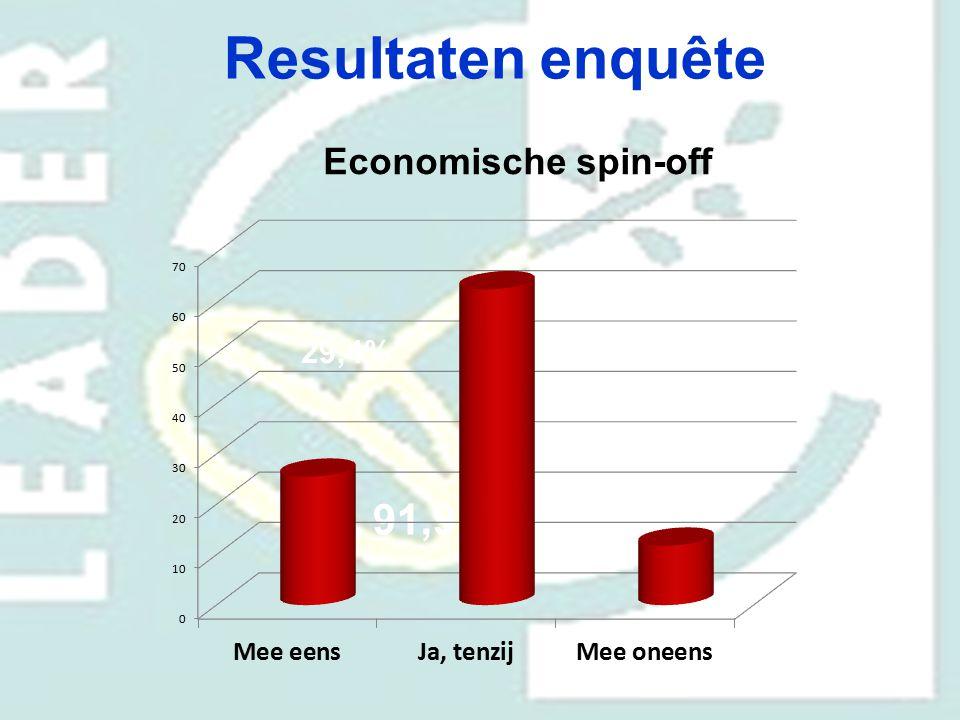 Resultaten enquête Economische spin-off 70,6% 29,4% 91,9%