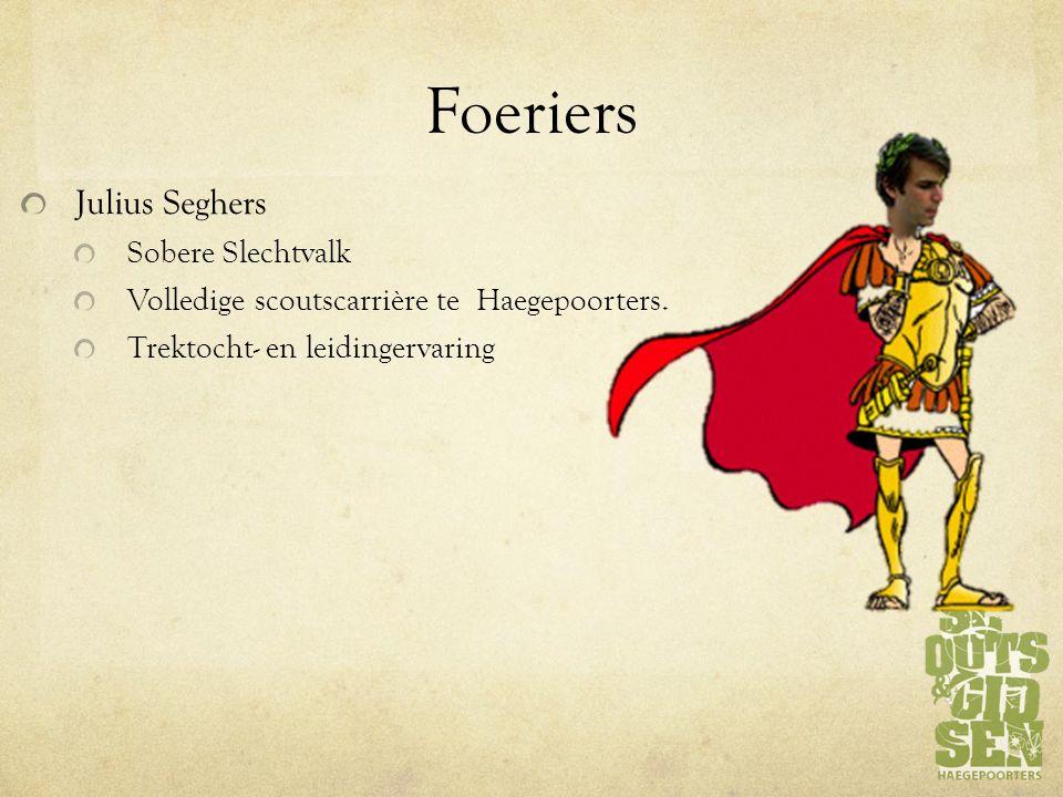 Foeriers Julius Seghers Sobere Slechtvalk Volledige scoutscarrière te Haegepoorters.
