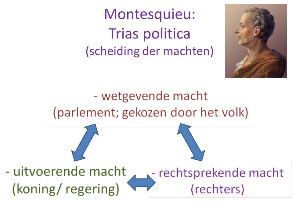 Montesquieu: Trias politica (scheiding der machten)