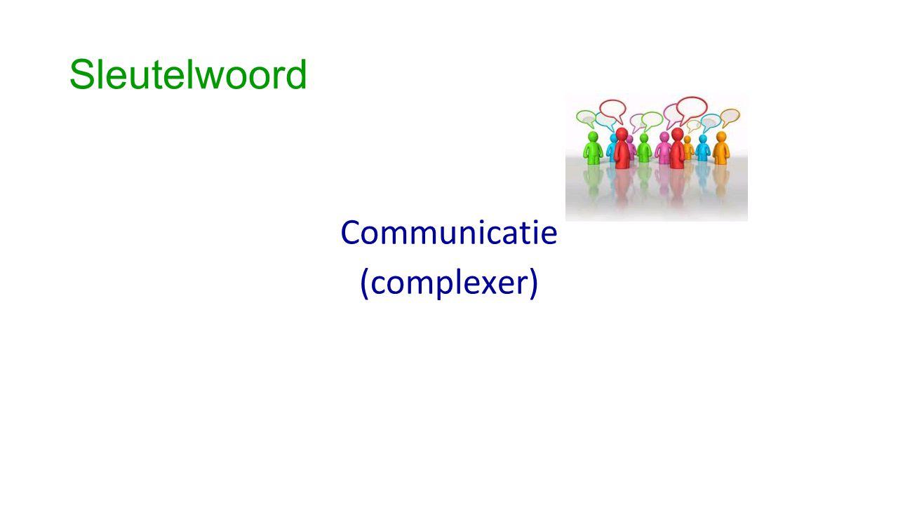 Sleutelwoord Communicatie (complexer)